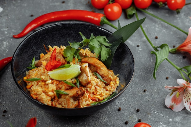 Thai rice with chicken