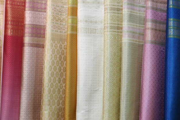 Thai silk fabric