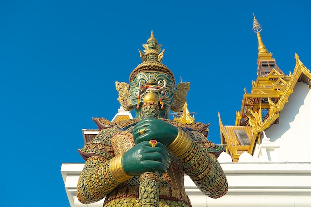 Thai style giant at the temple thailand