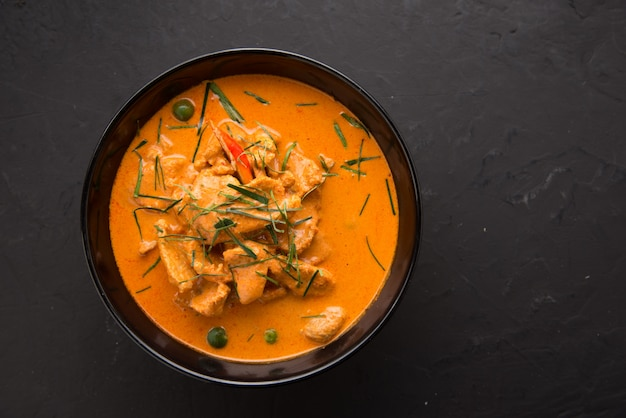 Thai style red curry with beef menu or thai name is panaeng neur.