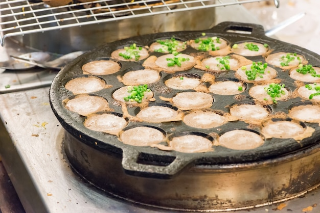 Thai sweet coconut rice hotcake
