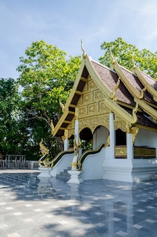 Thai temple and and the fresh garden
