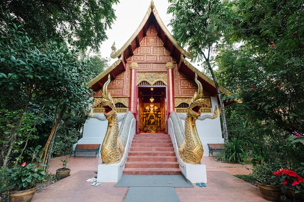 Thai temple in northern of thailand