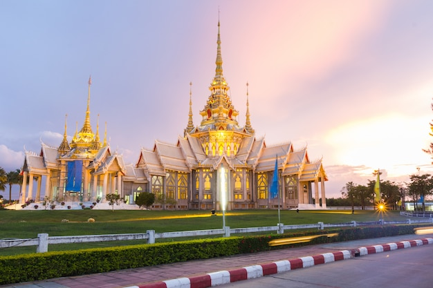 Thai temple, thai style church at nakhon ratchasima province, thailand