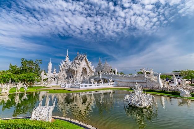 Thai white temple,wat rong khun, chiang rai province, northern thailand