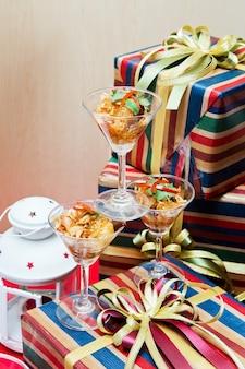 Таиландские коктейльные салатные дни Рождества.