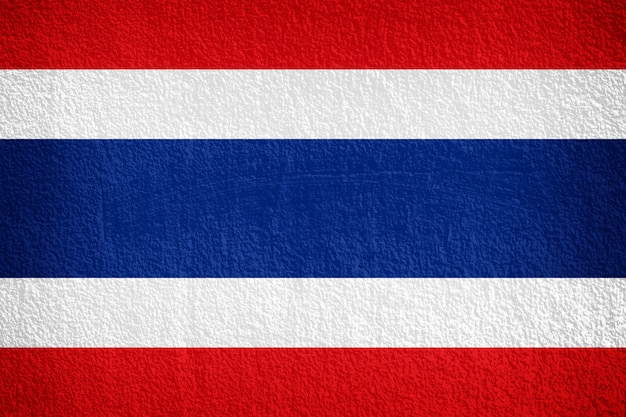 Thailand flag painted on grunge wall