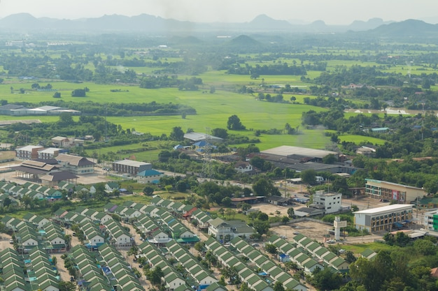 Thailand landscape of rural city and moutain