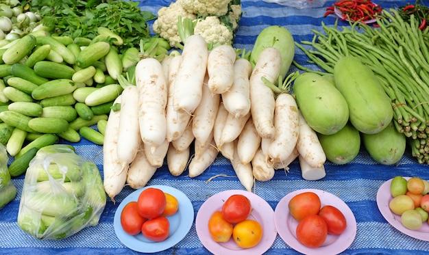 Thailand market vegetables