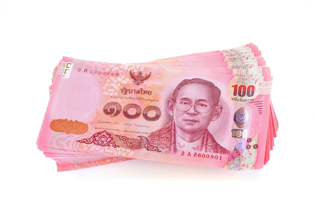 Thailand money bills, baht currency