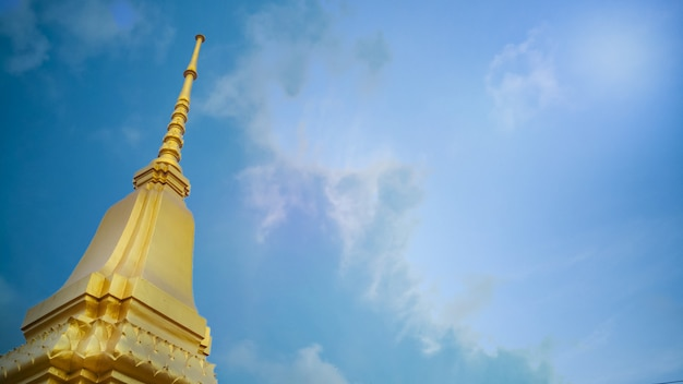 Thailand  temple sky image for religion content.