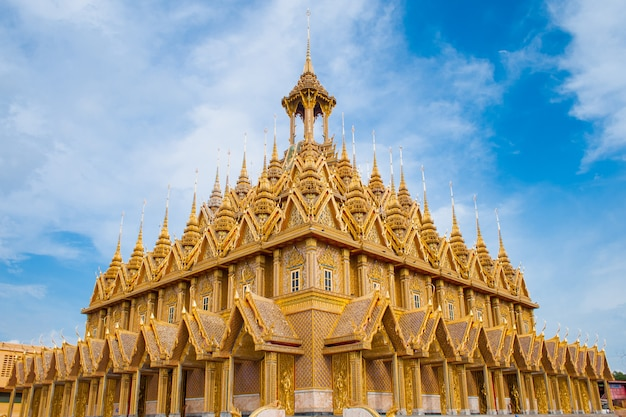 Thailand temple - wat ta-sung in chainat province, northern thailand
