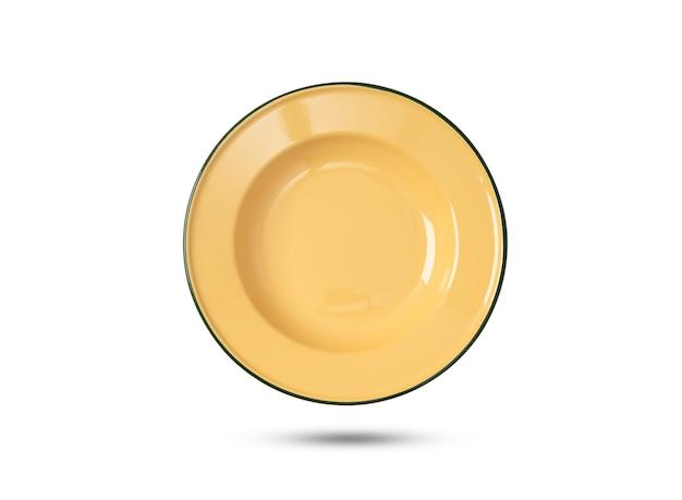 격리 된 흰색 배경에 태국 빈티지 세라믹 접시