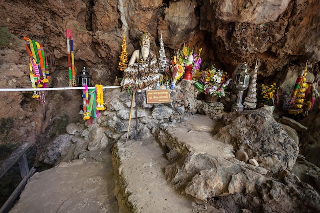 Tham pla (fish cave) in tham pla pha suea national park, nothern thailand