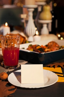 Thanksgiving arrangement delicious food