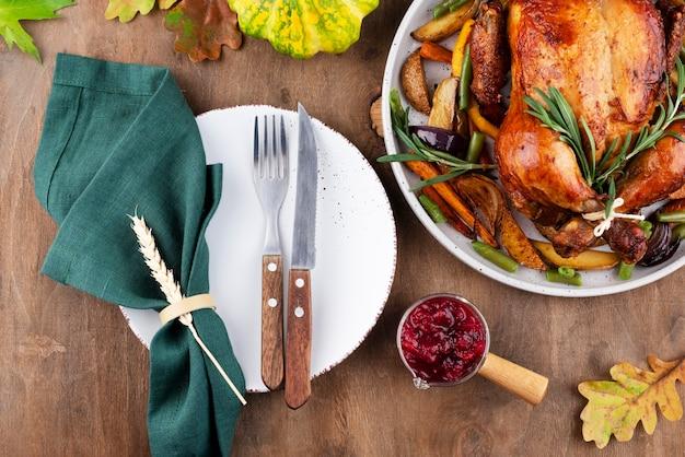 感謝祭のおいしい食事の手配
