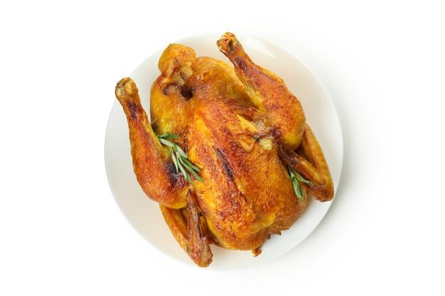 Thanksgiving day roast turkey isolated on white background