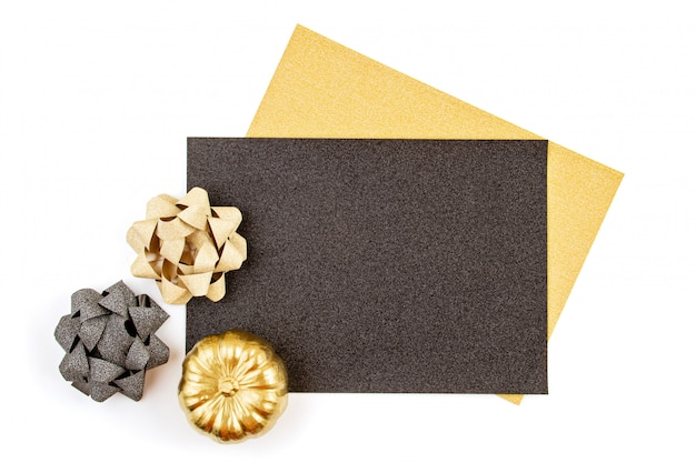 Thanksgiving or halloween greeting card or invitation