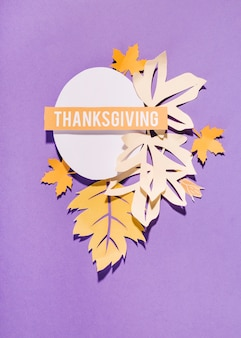 Thanksgiving lettering on white oval