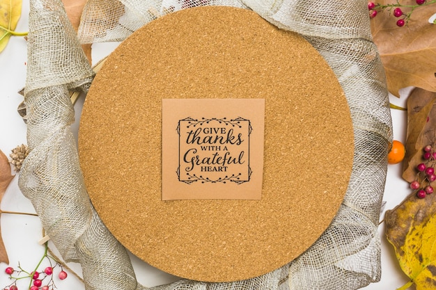 Thanksgiving note on cork