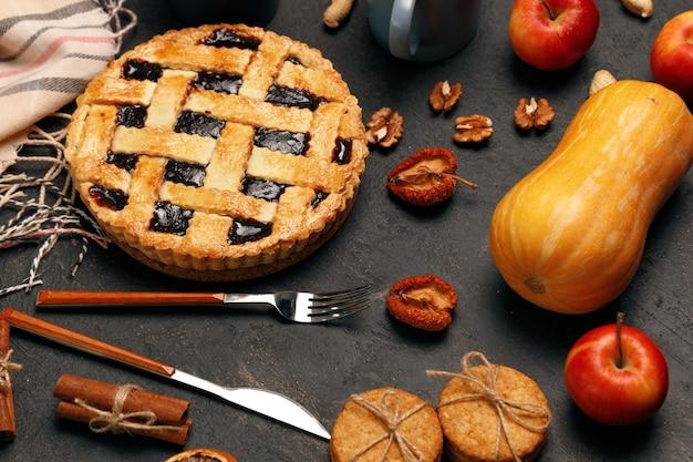 Пирог благодарения и тыква