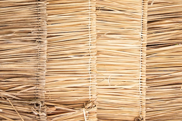 Thatched roof background.