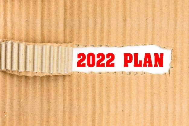 Обнаружен план 2022 года, слово написано на обложке, вырванной из курьерского картона