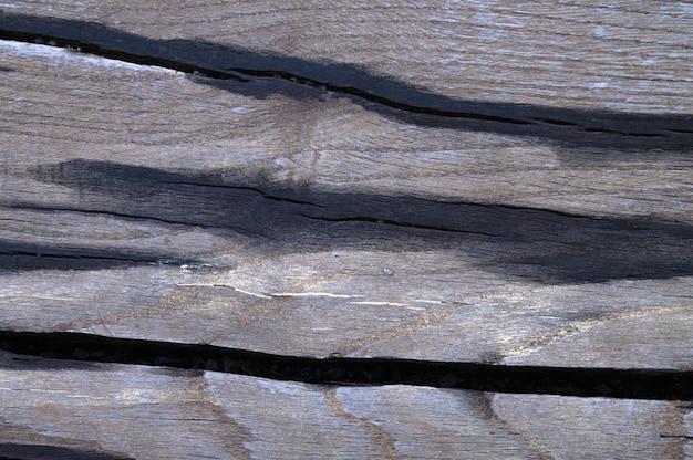 古い木の表面の抽象的な背景は雨の後に濡れています。クローズアップのトップビュー