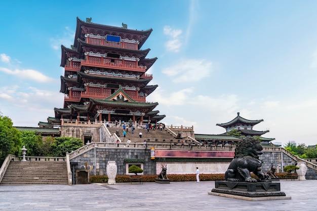 리장강 옆에 있는 고대 건물, 난창 텡왕 정자.