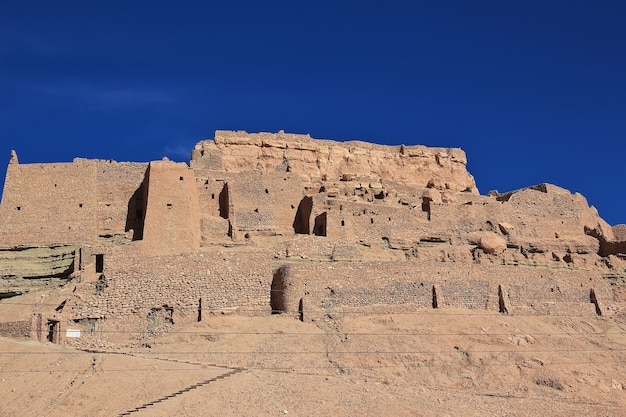 アルジェリアのサハラ砂漠にある古代の要塞