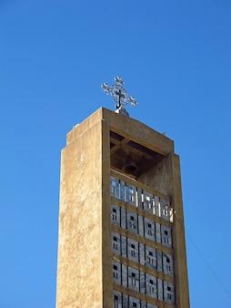 エチオピア、アクスム市の古代記念碑