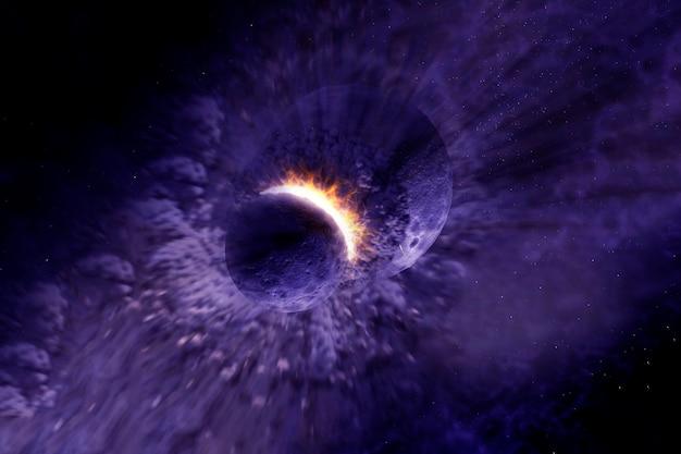 Астероид врезается в планету элементы этого изображения предоставлены наса