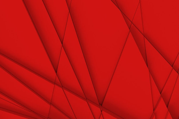 サーフェスの背景は、さまざまな高さのさまざまな幾何学的形状の直線と、互いに影を落とすことによって計算されます。 3dイラスト