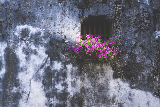 고대 중국 건축의 벽과 창문 배경