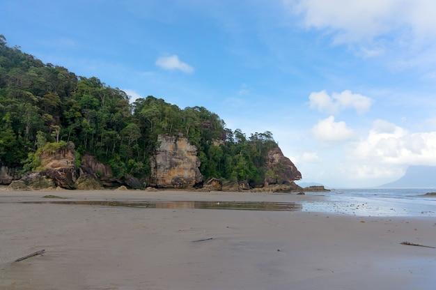 바코 국립공원의 보르네오 섬 해변