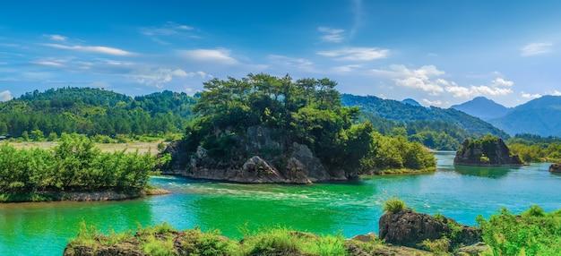 Красивые природные пейзажи реки наньси в вэньчжоу, китай