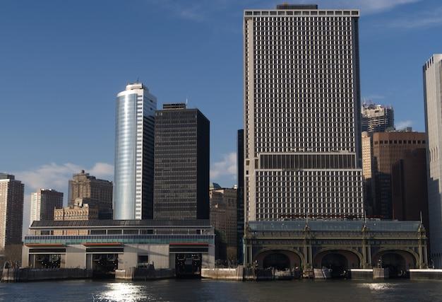 ハドソン川から見たマンハッタンの建物の美しさ