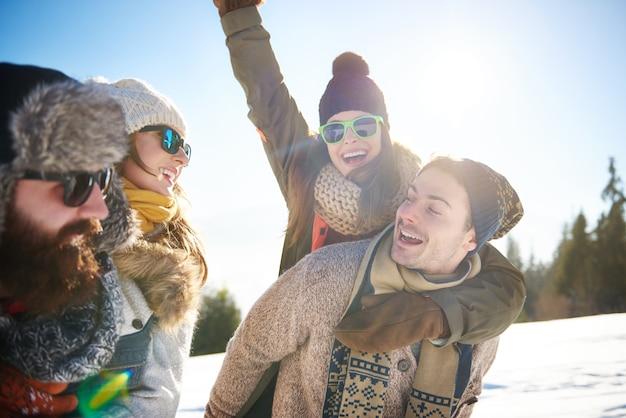 彼らの人生で最高の冬の時間