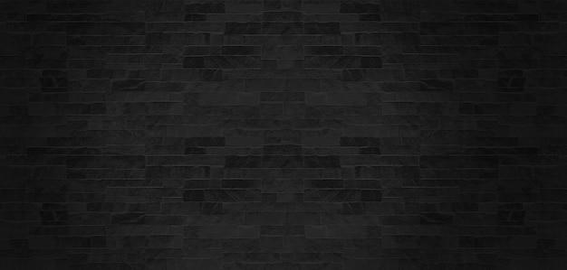 黒い石の壁のパターンテクスチャ背景。