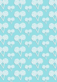 多くのキャンディーの青い抽象的なパターン