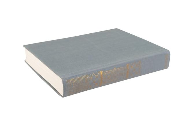 책은 흰색 격리된 배경에 녹색입니다.