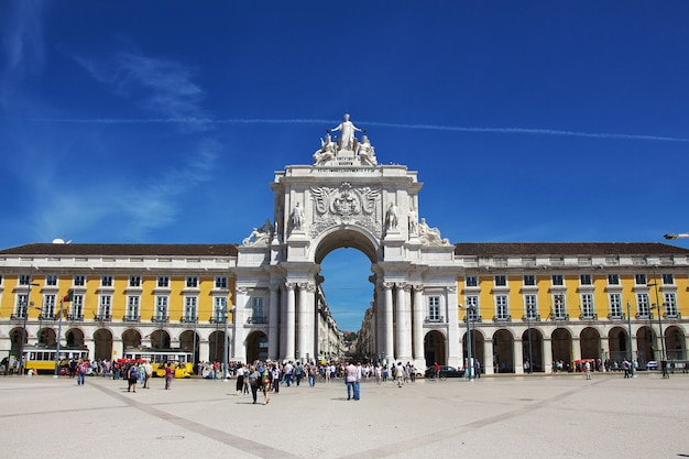 Центральная площадь в городе лиссабон, португалия