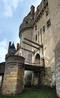 フランスのアンドル エ ロワールにあるランジェ城。 992年、アンジュー伯フルク・ネラが建国。
