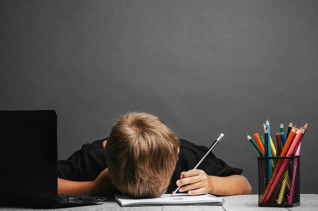 아이는 학교에서 원격으로 공부합니다. 학교로 돌아가다