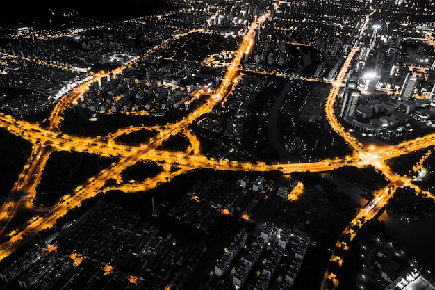 중국 도시의 밤