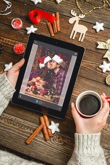 Выбор новогодних подарков в интеренет концепции