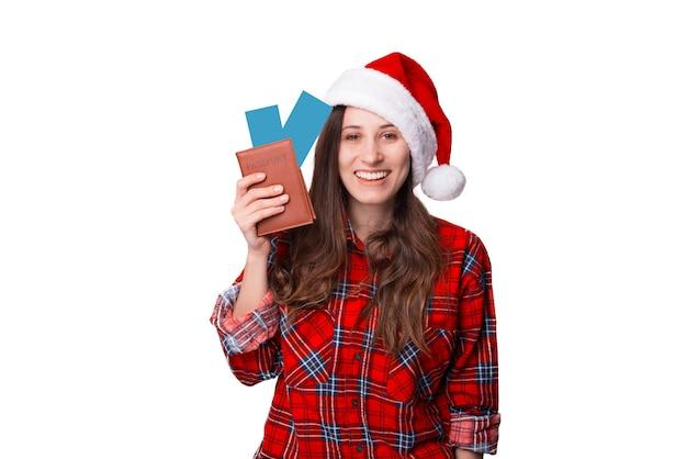 크리스마스 모험이 우리를 기다리고 있습니다. 여행 티켓이 두 장 있습니다.