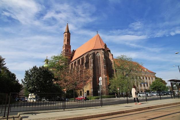 Церковь в городе вроцлав польша