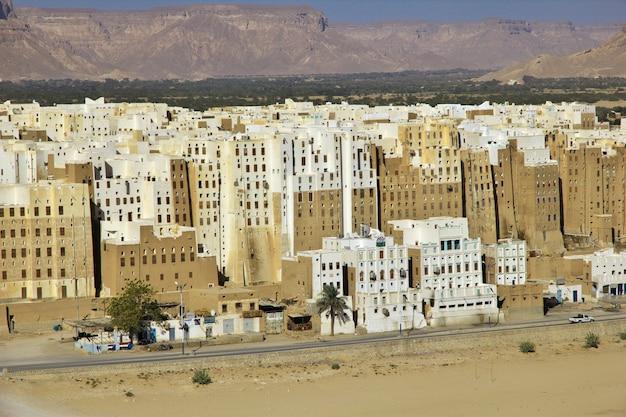 イエメン、ワディ・ハドラモート、シバーム、中世の高層ビル街