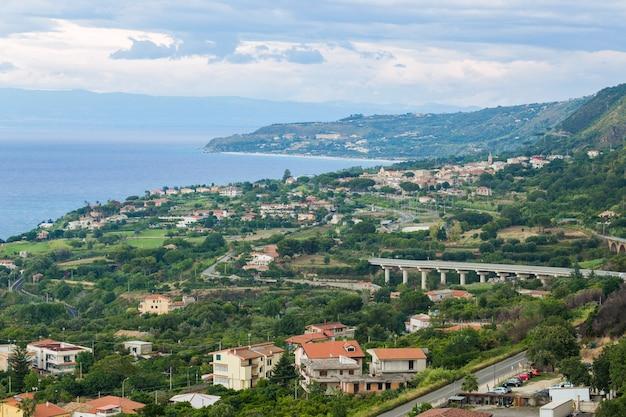 이탈리아 칼라브리아 비보 발렌티 아 지방에있는 트로 페아시.